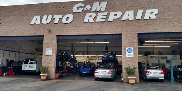 Front side of the shop - G & M Auto Repair | Canyon Country Auto Repair
